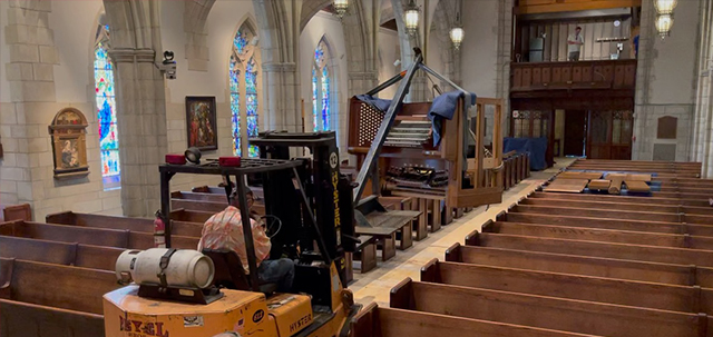 Organ on a Forklift
